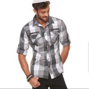 Rock & Republic Plaid button down shirt
